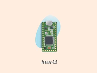 Teensy 3 2 circuit board illustrator illustration