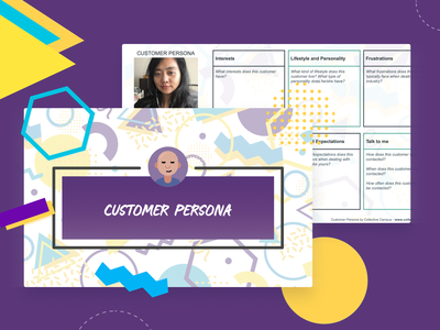 Simple Customer Persona template freebie free ux persona template design