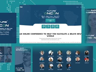 Future Squared OnCon Conference technology conference website design website