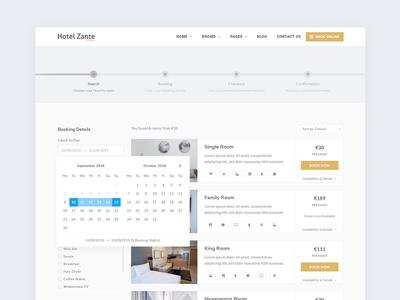 Search Page - Zante Hotel WordPress Theme