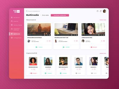 Job App - Multimedia grid images profile dashboard list design website card web ux ui backoffice
