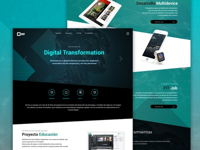 Landing page digital product