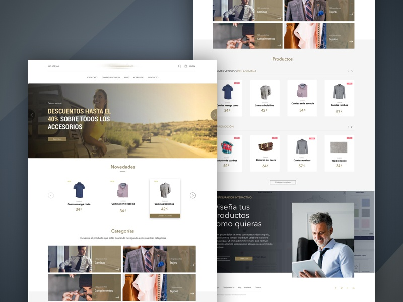 E-commerce - Home page category website web product e-commerce design e-commerce shop ux ui
