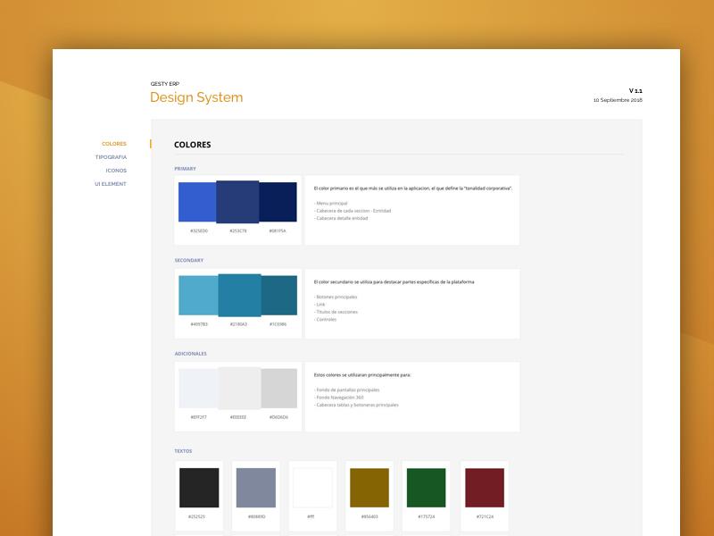Design System color palette guidelines guide colors design system style guide ui