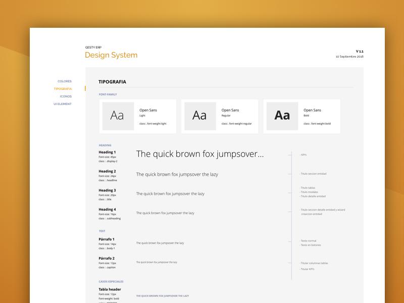 Design System typogaphy guided guidlines guide design system