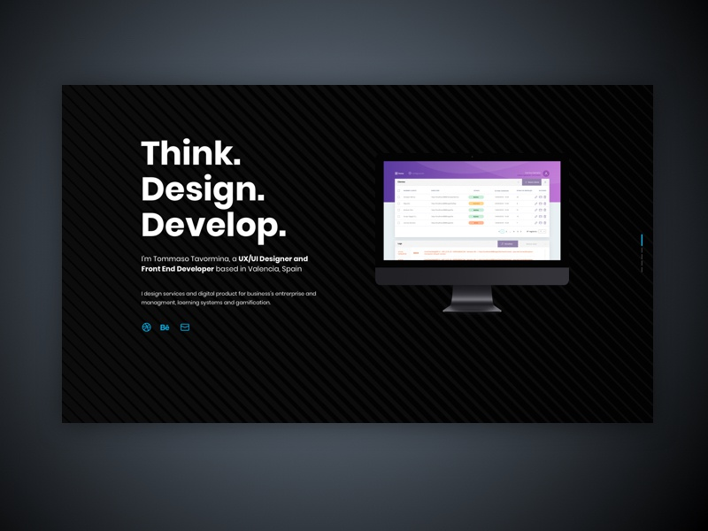 Portfolio minimalist dark design card portfolio card portfolio ux ui