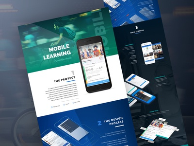 Mobile Learning Landing Page