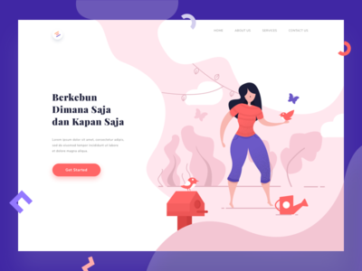 Illustration for landing page