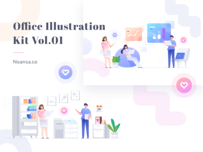Office Illustration Kit Vol.01 - Noansa.co
