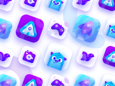 Purple & Blue App Icon Exploration