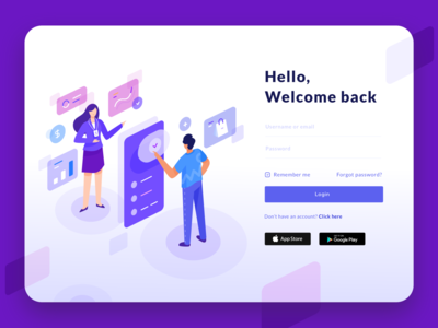 Login Page Illustration - Online Payment