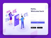 Login Page Illustration - Online Payment