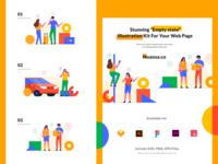 Empty State Kit Illustration Vol.01 - Noansa.co