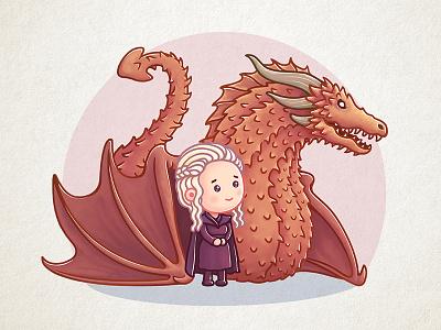 Dragon Queen game-of-thrones khaleesi illustration icon got dragon daenerys cute gameofthrones character animation
