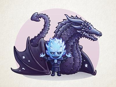Night King game-of-thrones whitewalkers nightking illustration icon got dragon daenerys cute character khaleesi