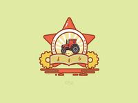 东方红拖拉机插画