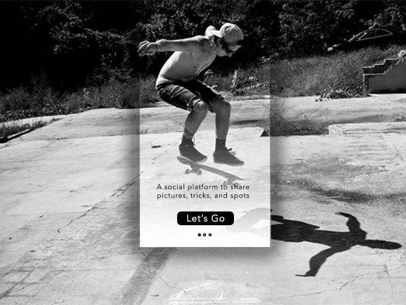 Onboarding - Day 023 #dailui onboarding skateboarding skateboard phone app digital ux ui dailyui