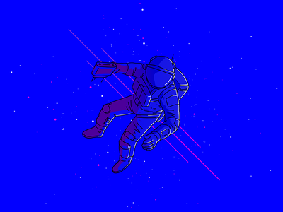 Astronaut void cosmonaut space astronaut vector illustration