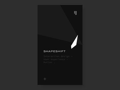 Shapeshifter Nav ux ui mobile ui  ux design user interface user experience ui mobile mobile app design mobile app mobile animation ixd interaction interaction design