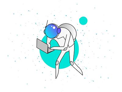Void space astronaut animation illustration motion art motion