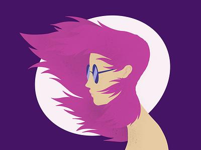 Wind procreate app character design quick sketch digital 2d illustration
