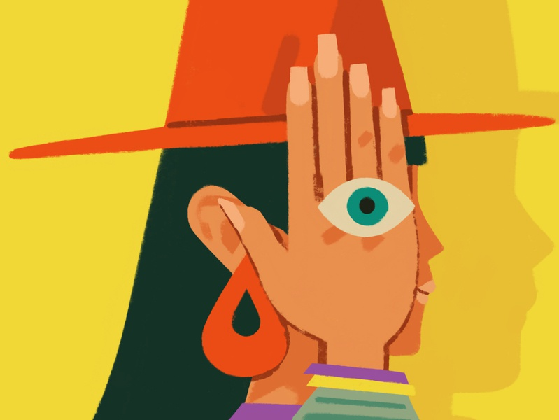trick of the eye procreate illustration