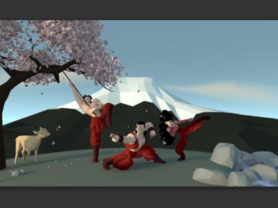 Randori Ninja's illustration 3d