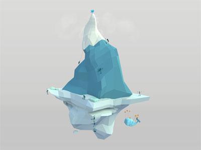 Social Climber Mountain 3d polygon fun twitter mountain illustration