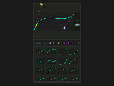 Cubic Bezier Tool css animation easing cubic-bezier interaction design