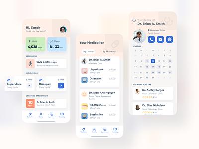Daily design things - healthcare app daily ui ios app dailyui figma mobile ui mobile app app ux ui medical app health app healthcare app healthcare