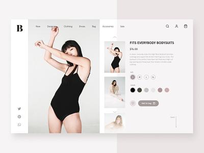 Daily Design Things - E-commerce Website vector dailyui figma minimal ui design fashion e-shop e-commerce website web flat uidesign uiux