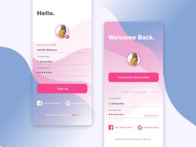 Daily UI - signup & login