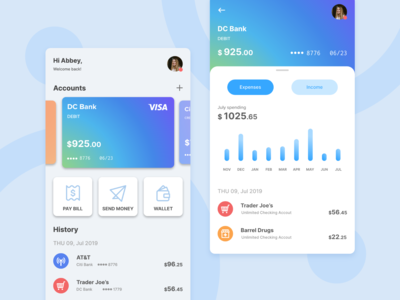 Daily Design Things - Wallet app UI