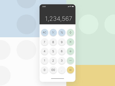 Daily Design Things - Re-design Calculator xd adobe xd uidesign ui design uiux daily ui calculator ui calculator mobile dailyui ui minimal flat design vector