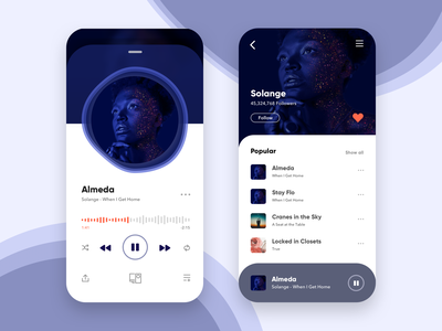 Daily Design Things - Music Player apple music spotify redesign mobile app music app music ui design uiux daily ui icon app ux mobile dailyui ui sketch minimal flat design vector