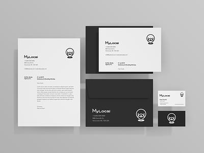 Daily Design Things - MyLocal Branding Mockup logos graphic brand design branding design brand identity brand illustrator web typography minimal flat vector logo logo mark graphic design design branding