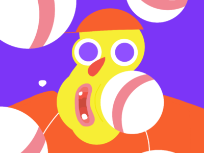 Tha Balls character personaje ilustracion palette color illustration