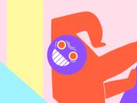 Frgmnt. #2 Monoz contrast character palette color illustration