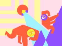 Monoz ilustración contrast palette color illustration