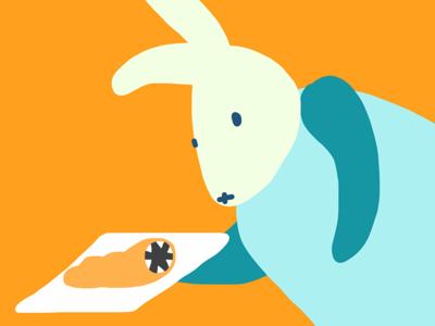 Le Menu III color menu style vector digitalart ilustracion book contrast bunny characters character illustration