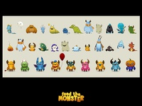 Feed The Monster - Monster Sketches