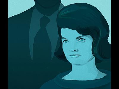 Jackie Kennedy portrait illustration jackie kennedy drawing editorial illustration portrait illustration