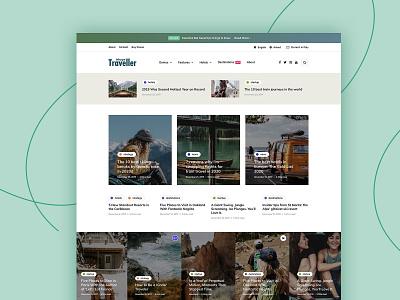 InHype travel blogger travel blog themeforest magazine landing wordpress corporate business webdesign minimal