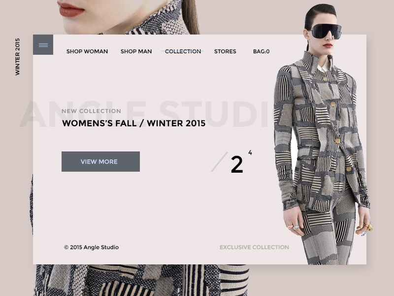 Angle Shop agency ecommerce shop portfolio creative minimal ux ui onepage web design web