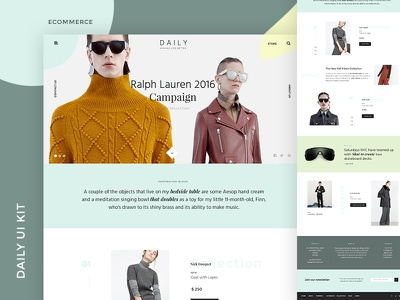 Daily Ui Kit Ecommerce uikit kit simple ux ui magazine corporate blog webdesign web