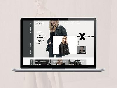 Space magazine portfolio blog clean ux ui shop ecommerce minimal design web