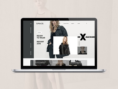 Space magazine portfolio blog clean ux ui shop ecommerce minimal design web