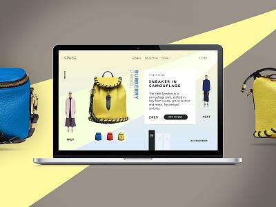 Space agency ecommerce shop portfolio creative minimal ux ui onepage web design web