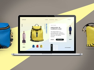 Space agency ecommerce shop portfolio creative minimal ux ui onepage web design web