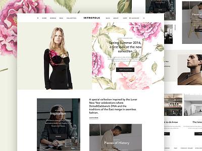 Introfolk ux ui magazine creative blog minimal ecommerce shop